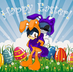 Happy easter everyone by BluethornWolf