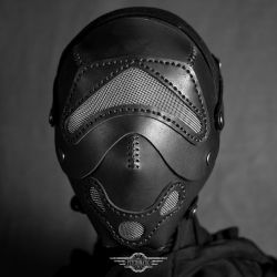 Fencer black leather mask by LahmatTea