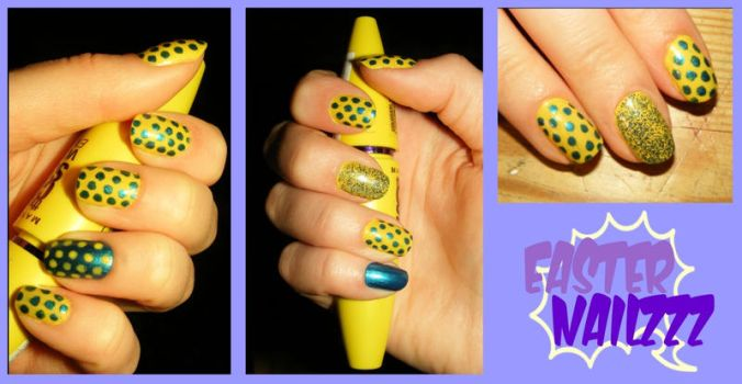 Some nail art for Easter by NazgarothGarneth