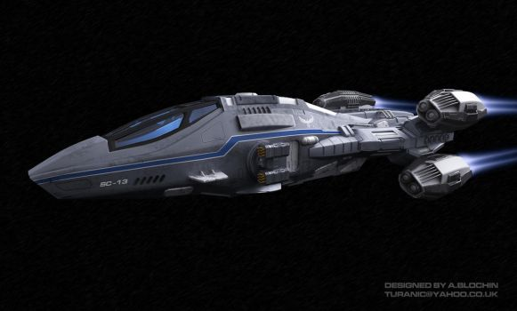 Space Corvette View 2 by TuranicRaider