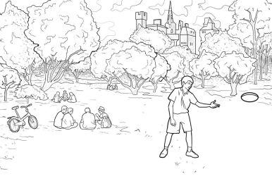 Park Background Commission by JPGArt