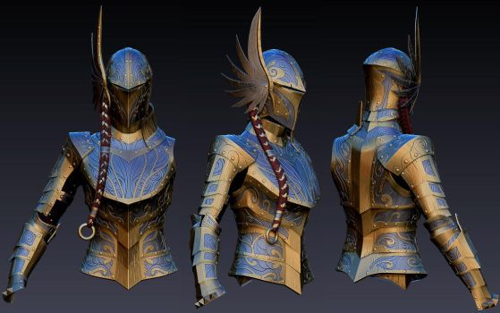 Valkyrie Armor for Skyrim (WIP) by Zerofrust