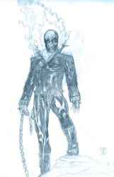 Sketch Ghost Rider by Mich974