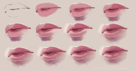 Realistic Lips Tutorial 2 by artisticxhelp
