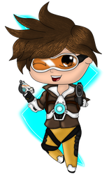 Chibi Tracer- Overwatch by kyliesmiley1998