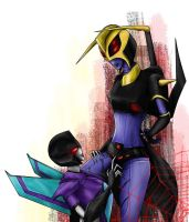 Slipstream+Blackarachnia by DeadRain6
