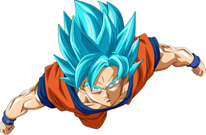 Goku ssj blue by naironkr