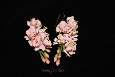 sakura earrings by fion-fon-tier