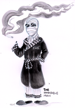 Finktober - The Invisible Man by TopperHay