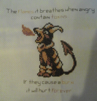 Houndoom Cross-Stitch by GormKitty