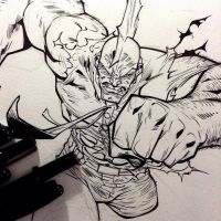 savage dragon Inks by rogercruz