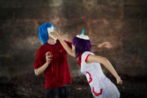 2D and Noodle. Surprise attack xD by otonashis