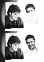 WIP5 and 6 - Sam and Dean by Fayeren
