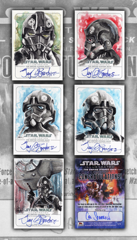 Topps Tie Pilot Sketchcards by CalSparrow