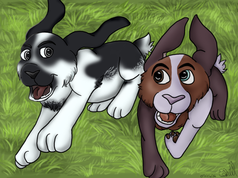 Rabbit Race by CanineCanvas