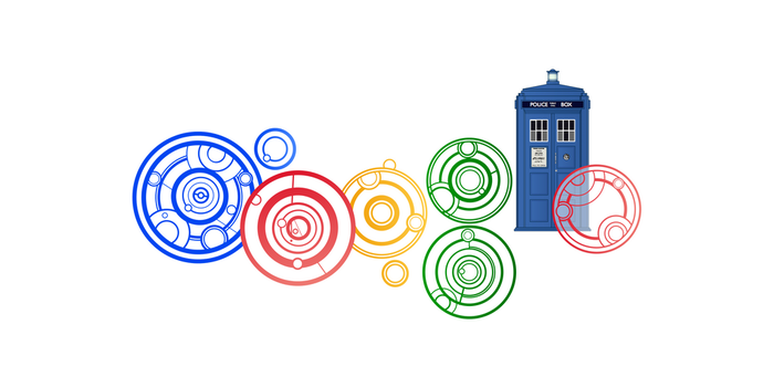 Doctor Who Google Doodle Close-up [new version 11] by HugoLynch