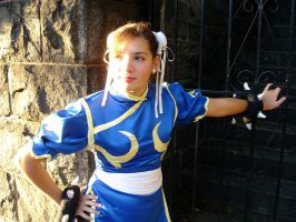 Chun Li Cosplay looking by dollphinwing