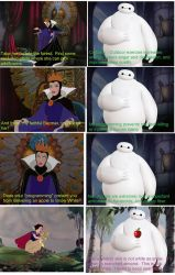 Baymax goes after Snow White by QuantumInnovator