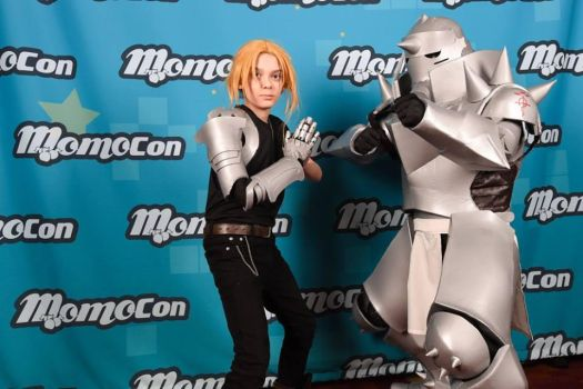 Momocon 2018: Ed and Alphonse by dcb2art