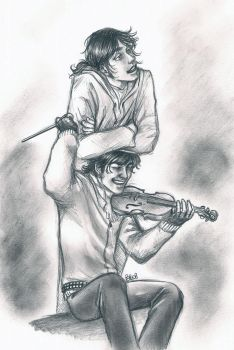 +Roadsong+ . Monty and Simon by LadyBelial