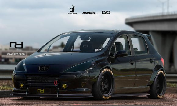 Peugeot 307 - Rocket Bunny by Rob3rT----Design