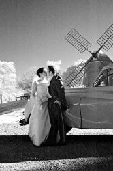 Bride, Groom and Windmill by Ceardach