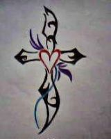 2012 drawing - tribal cross by nielopena