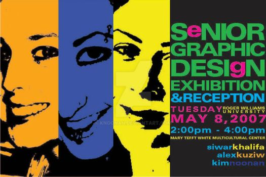 Senior Design Exhibition Card by knoonan