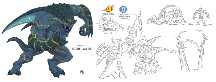 Pacific Rim Concept: The Rogue Kaiju by A3DNazRigar
