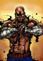 Sagat - SF by GarroteFrancell
