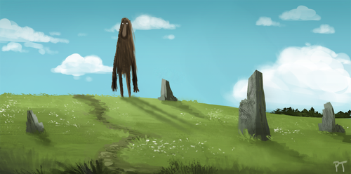 DAY 417. Bit of a step back by Cryptid-Creations