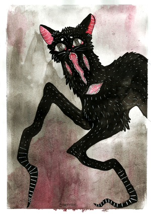 Crooked kitty by Shenree