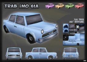 Low poly car: Trab IMO 614 by Imogia