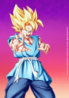 SSJ Son Goku color commission by carapau