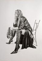 leather clad pinup by karlhcox