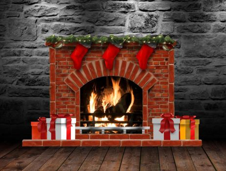 Christmas Fireplace (animated) for xwidget by Jimking