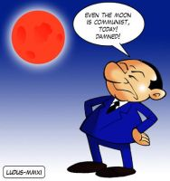 Berlusconi and the red Moon by MasterLudus