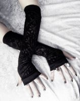 Sara Adorned Arm Warmers by ZenAndCoffee