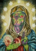 Our Blessed Reptilian Virgin by HiddenStash