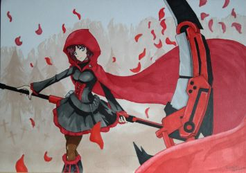 Ruby Rose (RWBY) by Rozelien