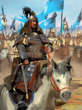 Genghis Khan by Andrei-Pervukhin