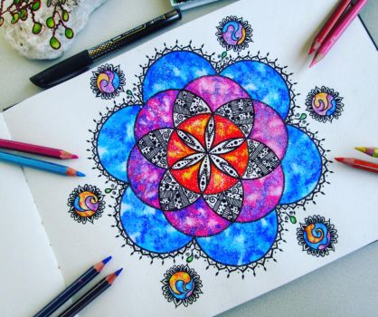 Galaxy Mandala by LauraLalart