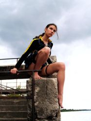 Lara Croft wetsuit - Clouds by TanyaCroft