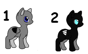 2 Pony Adopts (Open) by SpringANDFall