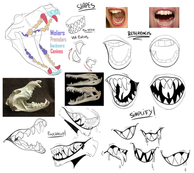 Teeth/Fangs Tutorial by DiamondwolfART