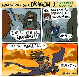 HTTYD2 alternate ending by therealarien