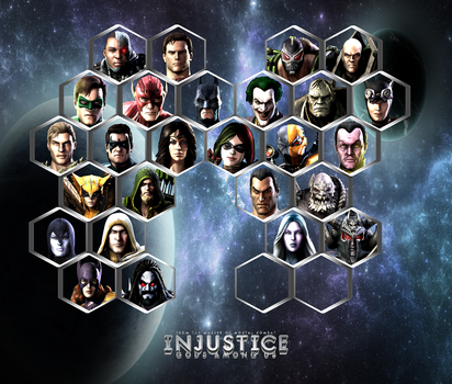 Injustice : Gods Among Us Roster by Kaiology