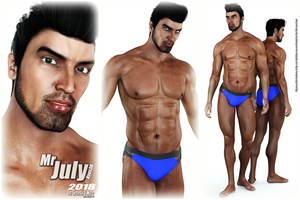 Calendar Guyz - Mr JULY 2018 for G8M by Kaos3d