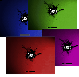 Vista 'Red' Boot screens by Nait0