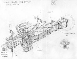 Long Range Freighter Ripley Class - Space Train by hardbodies